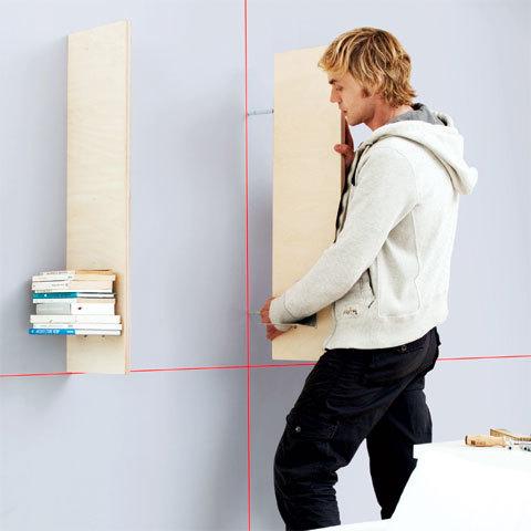 Pose d'étagères avec le Quigo de Bosch