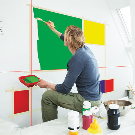 Peinture en colorblocks avec le Quigo de Bosch
