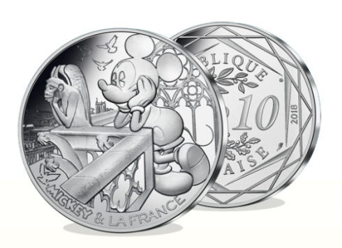 Pièces Mickey - La Monnaie de Paris.
