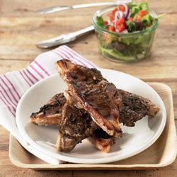 recette : côtelettes d'agneau au Ketchup grillées au barbecue