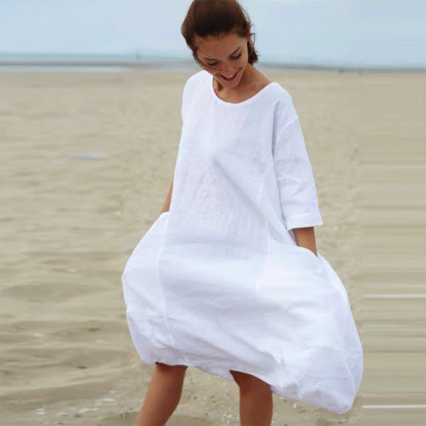 Photo : robe en lin Idées de Femme - Printemps-été 2019.