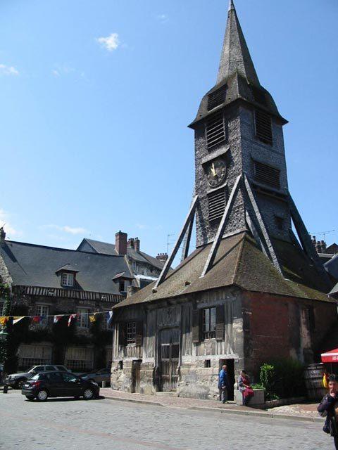 Le clocher de l'église Sainte-Catherine à Honfleur