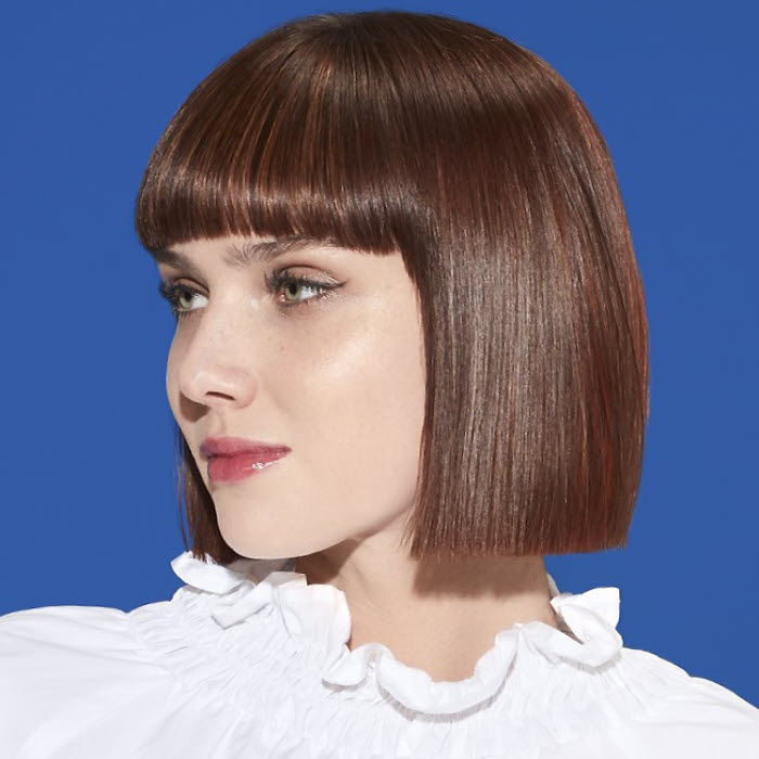 Coupe et coiffure cheveux mi-longs INTERMEDE - Printemps-été 2019.
