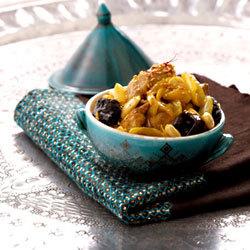 recette : tajine de veau aux pruneaux et aux épices