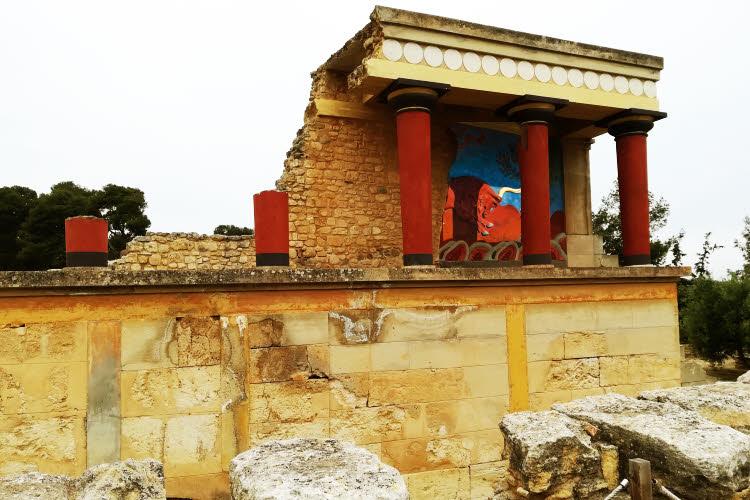 Crète : vestiges du palais de Cnossos © ABCfeminin.com.