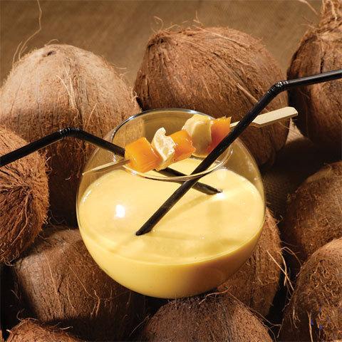 recette Cocktail en duo, mangue passion et guimauve © Gérald Gambier