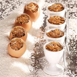 recette Oeufs coco surprise spéculoos framboise © Gérald Gambier