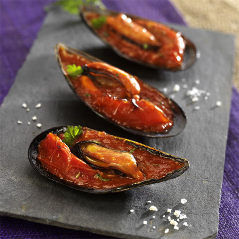 Recette Moules farcies à l'italienne avec sauce tomates semi-sèches Mutti