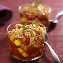 Recette Crumble de tomates cerise à la mangue et aux épices
