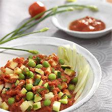 Recette panzanella toscane à la pulpe de tomate - photo : François Bertram