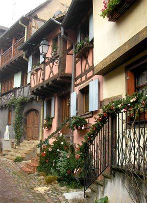 rue des Remparts à Eguisheim en Alsace