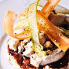 Recette de Grégory Cuilleron - Volaille farcie aux champignons, polenta crémeuse et coulis fruits rouges