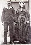 couple ouessantin - 1900