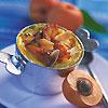 flan à l'abricot et à l'orgeat
