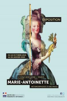 Affiche Exposition Marie-Antoinette, métamorphose d'une image.