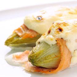 recette endives gratinées au saumon et au mascarpone