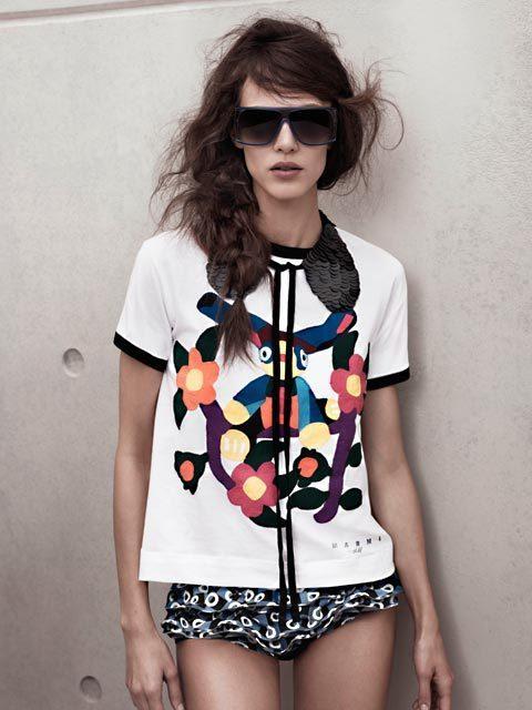T-shirt brodé, maillot et col à sequins Marni at H&M