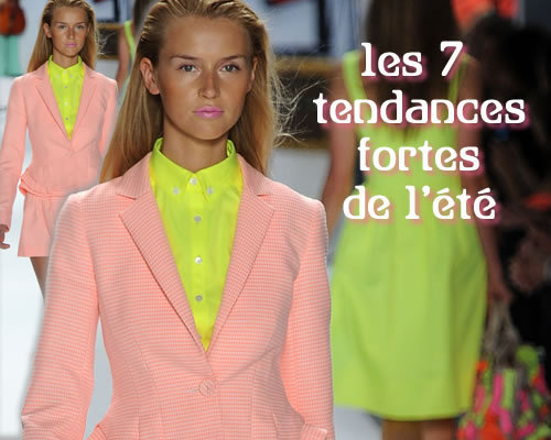les 7 tendances clés de la mode printemps-été 2012