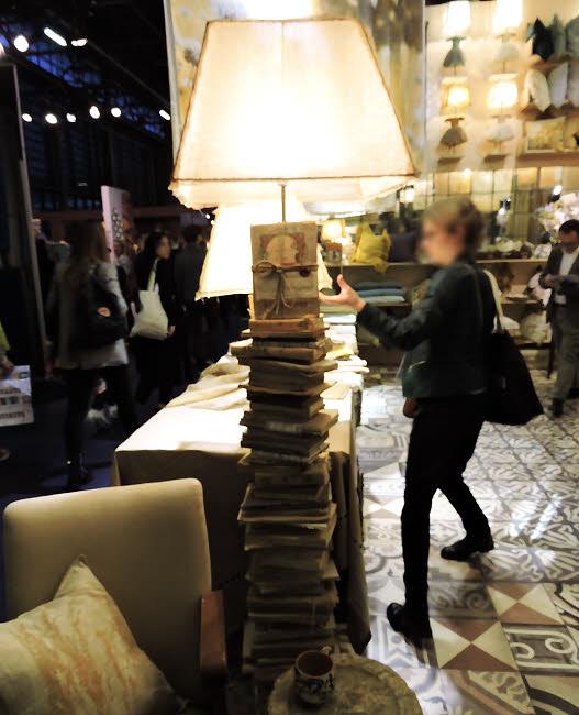 Abat-jour en lin, fait main, Borgo delle Tovaglie.
