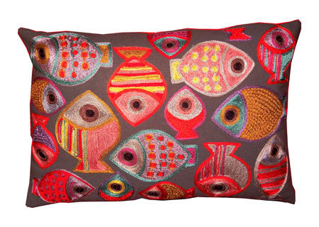 Coussin Rouge Garance