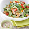 salade croquante façon César au poulet grillé, sauce gourmande