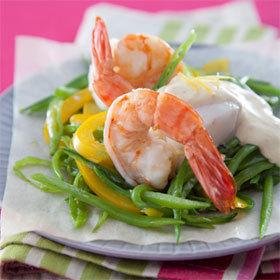 recette papillote de poisson et gambas, sauce Gourmande citron gingembre