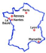 Situation géographique de La Baule