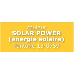 SOLAR POWER Pantone 13-0759