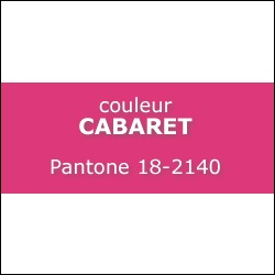 Couleur CABARET Pantone 18-2140