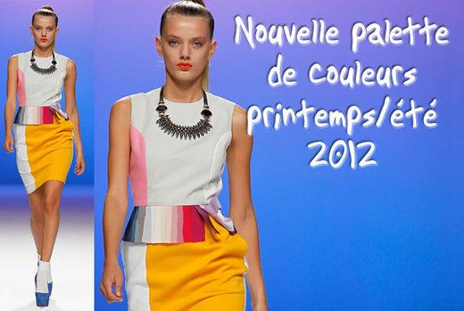 les couleurs tendances du printemps été 2012