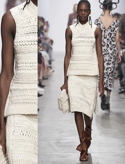 Ensemble tricot et crochet Christian WIJNANTS - Collection printemps-été 2020.