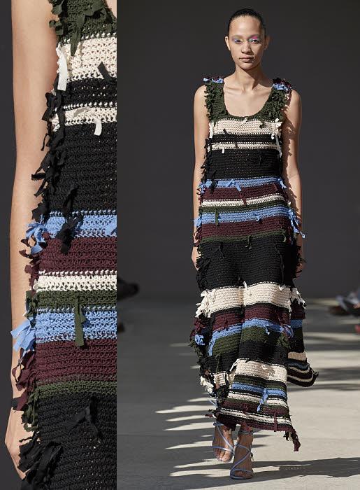 Robe en tricot Salvatore FERRAGAMO. Collection printemps-été 2020.