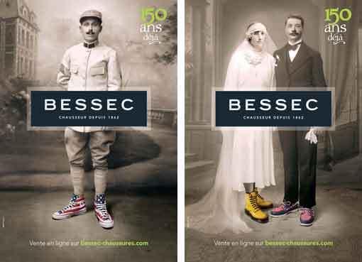 L'affiche des150 ans du chausseur Bessec