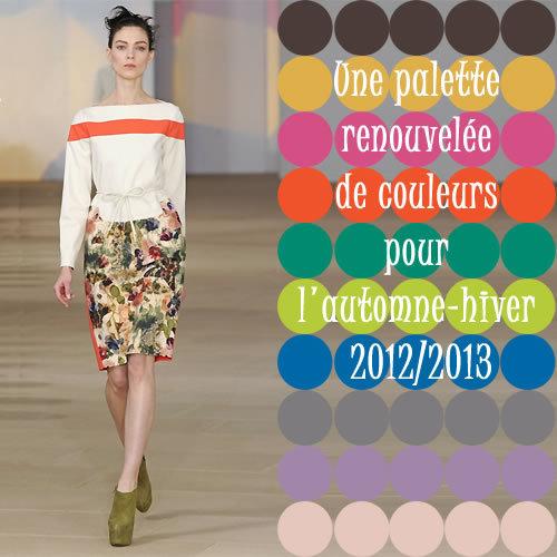 Couleurs tendances de l'automne-hiver 2012-2013 -  Photo : création Preen.