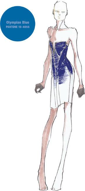 Le choix de Max and Lubov Azria pour Hervé Léger : Bleu Olympien