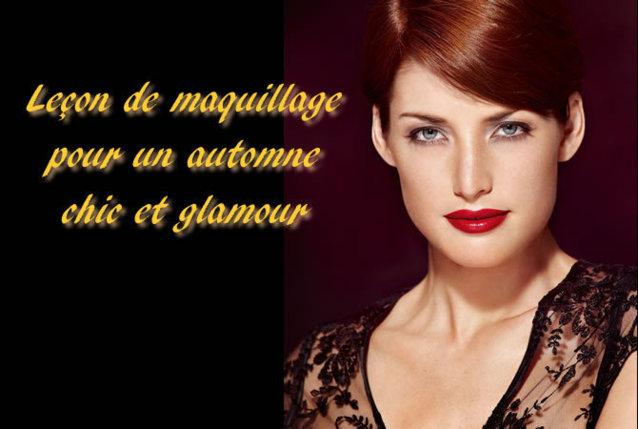 Leçon de maquillage : un maquillage d'automne soft et glamour