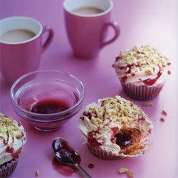 recette cupcakes beurre de cacahuètes et confiture de fraises