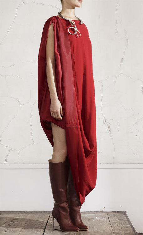 Robe rouge Maison Martin Margiela chez H&M