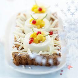 recette croquant aux amandes et douceur de crème au chocolat blanc
