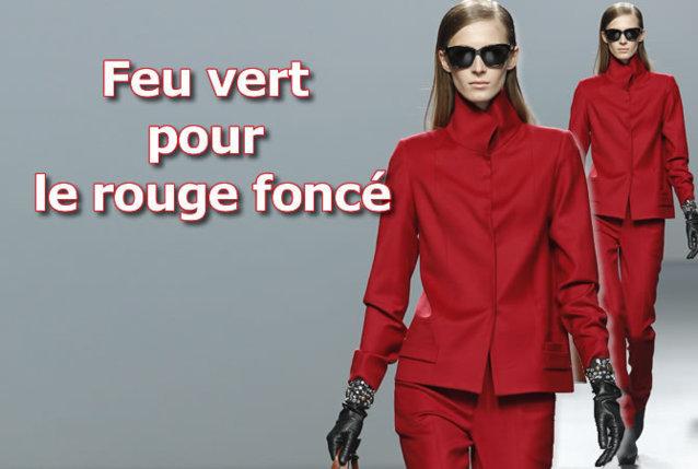 shopping de l'automne-hiver 2012-2013 : couleur rouge
