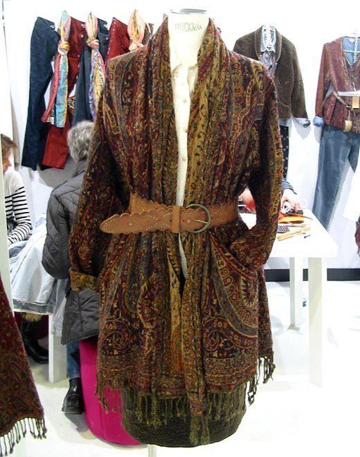 TENDANCE veste-étole - collection automne-hiver 2013-2014