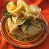 Crêpes en aumônière à la compotée de pomme cannelle