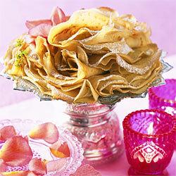 recette crêpes à l'eau de rose