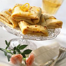 recette crêpes au thé et au zeste d'orange