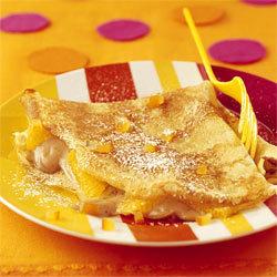 recette crêpes aux marrons et à l'orange