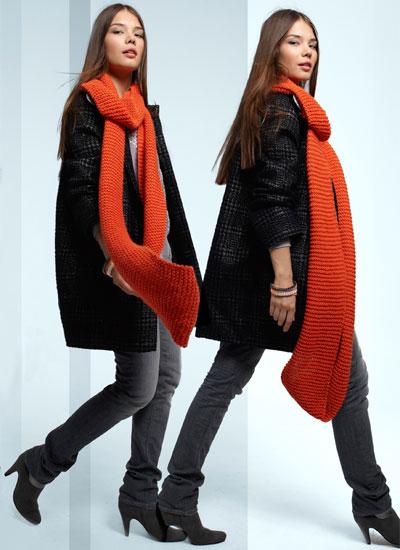 zoom maxi écharpe à tricoter © Phildar