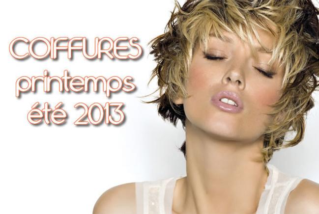 Nouvelles coupes et coiffures tendances Printemps-été 2013