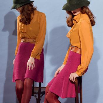modele tricot jupe femme