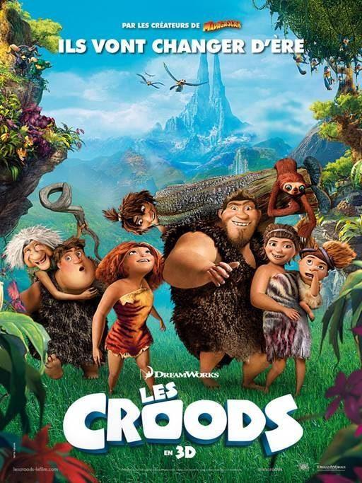 Les CROODS, dessin animé en 3D : l'affiche