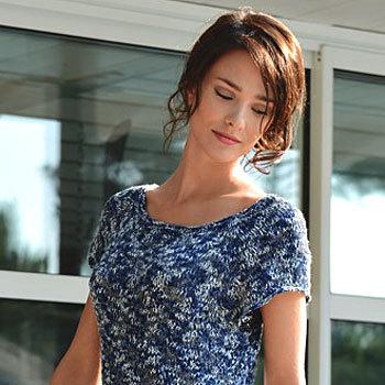 Tricot expliqué gratuit à télécharger : robe raglan réalisée au point jersey